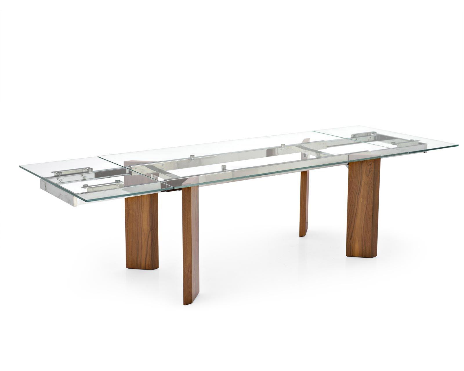 Tavolo Cristallo In Vetro.Tower Expandable Table Avanti Furniture