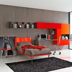 Teenager bedrooms: composition T02