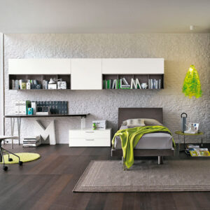Teenager bedrooms: composition T08