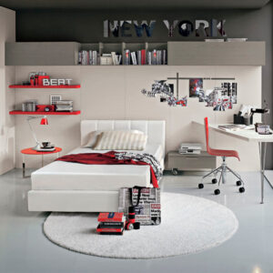 Teenager bedrooms: composition T10
