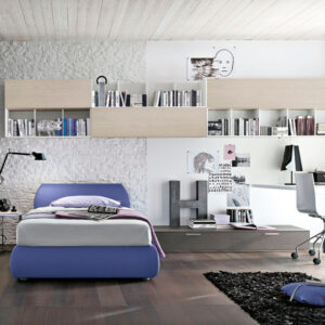 Teenager bedrooms: composition T12