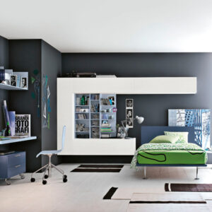 Teenager bedrooms: composition T13