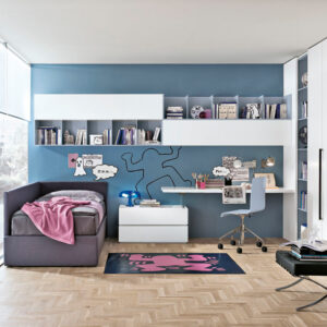Teenager bedrooms: composition T14