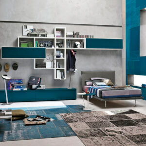 Teenager bedrooms: composition T15