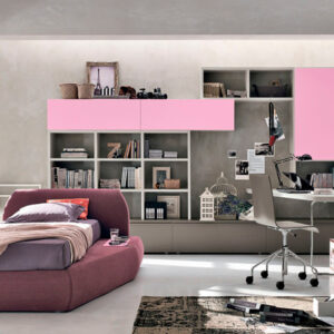 Teenager bedrooms: composition T18