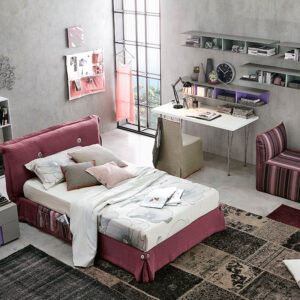 Teenager bedrooms: composition T21