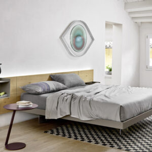 ECLETTO SYSTEM WITH VENEER HEADBOARD